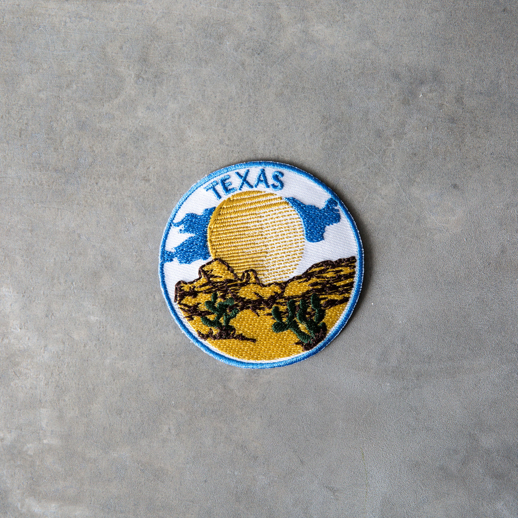 texas desert iron on patch