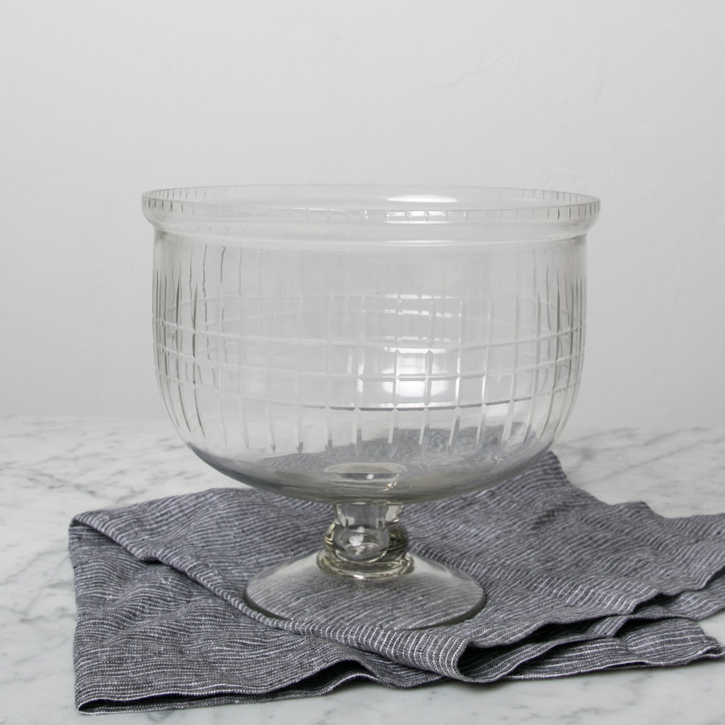 Footed Etched Bowl