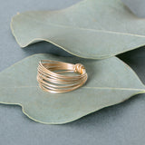 gold layered band ring