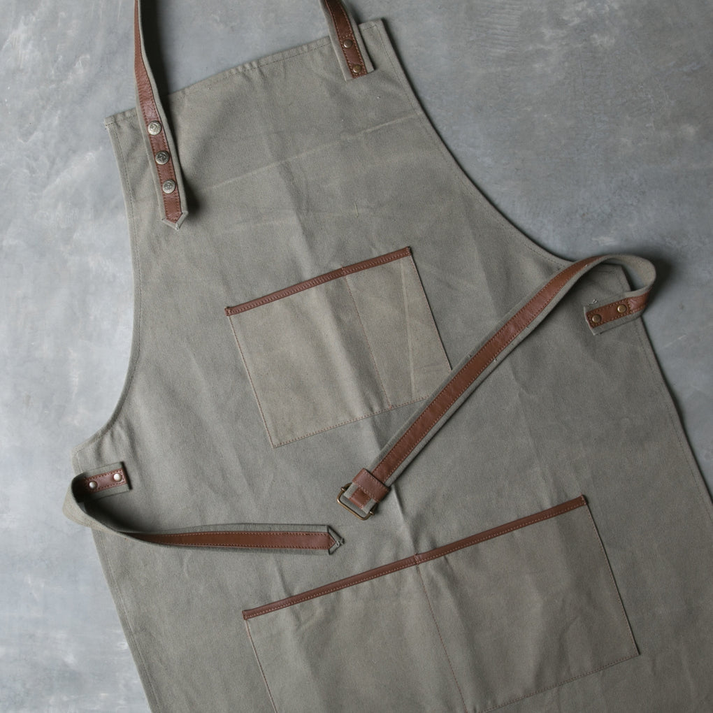 Work Canvas and Leather Apron