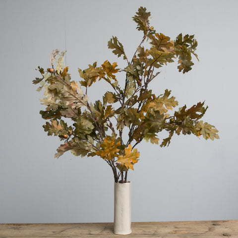 faux autumn oak leaves