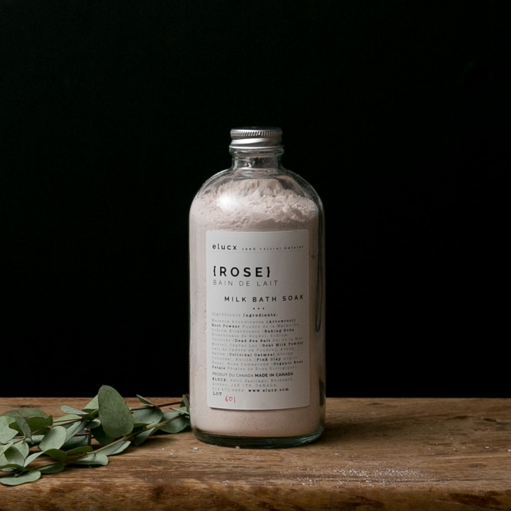 rose milk bath soak