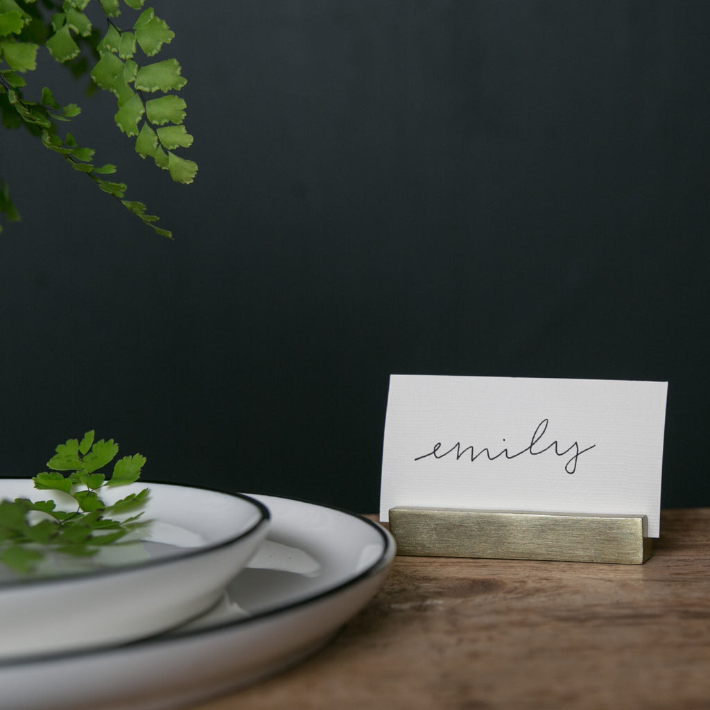 Rectangle Brass Place Card Holder