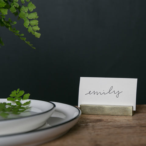 Brass Place Card Holder