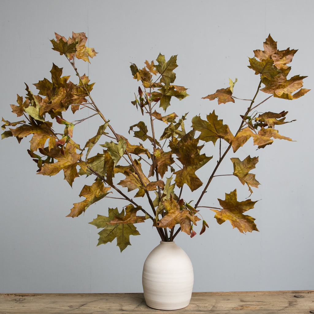 Magnolia Crafted Fall Leaves Stem