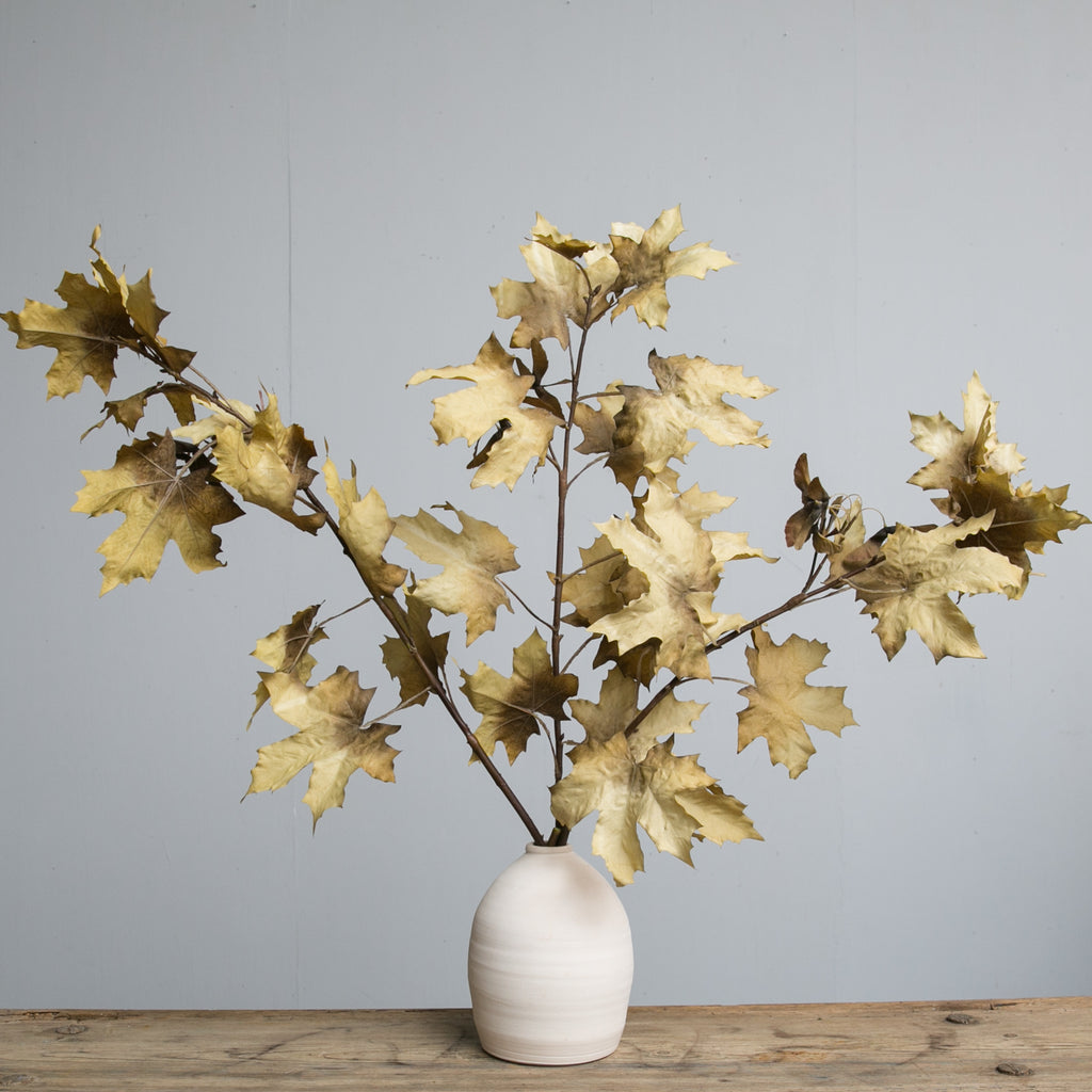 Magnolia Faux Crafted Autumn Leaves Stem