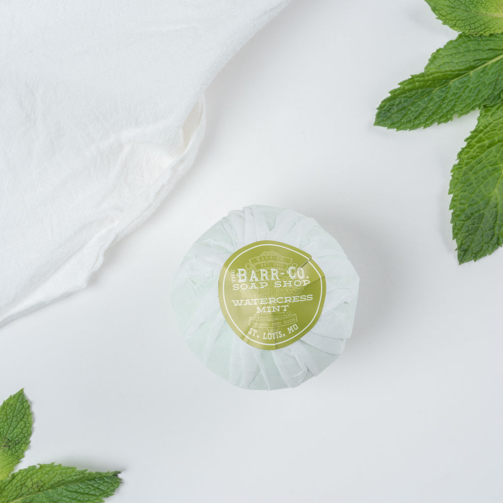 watercress mint bath salt ball