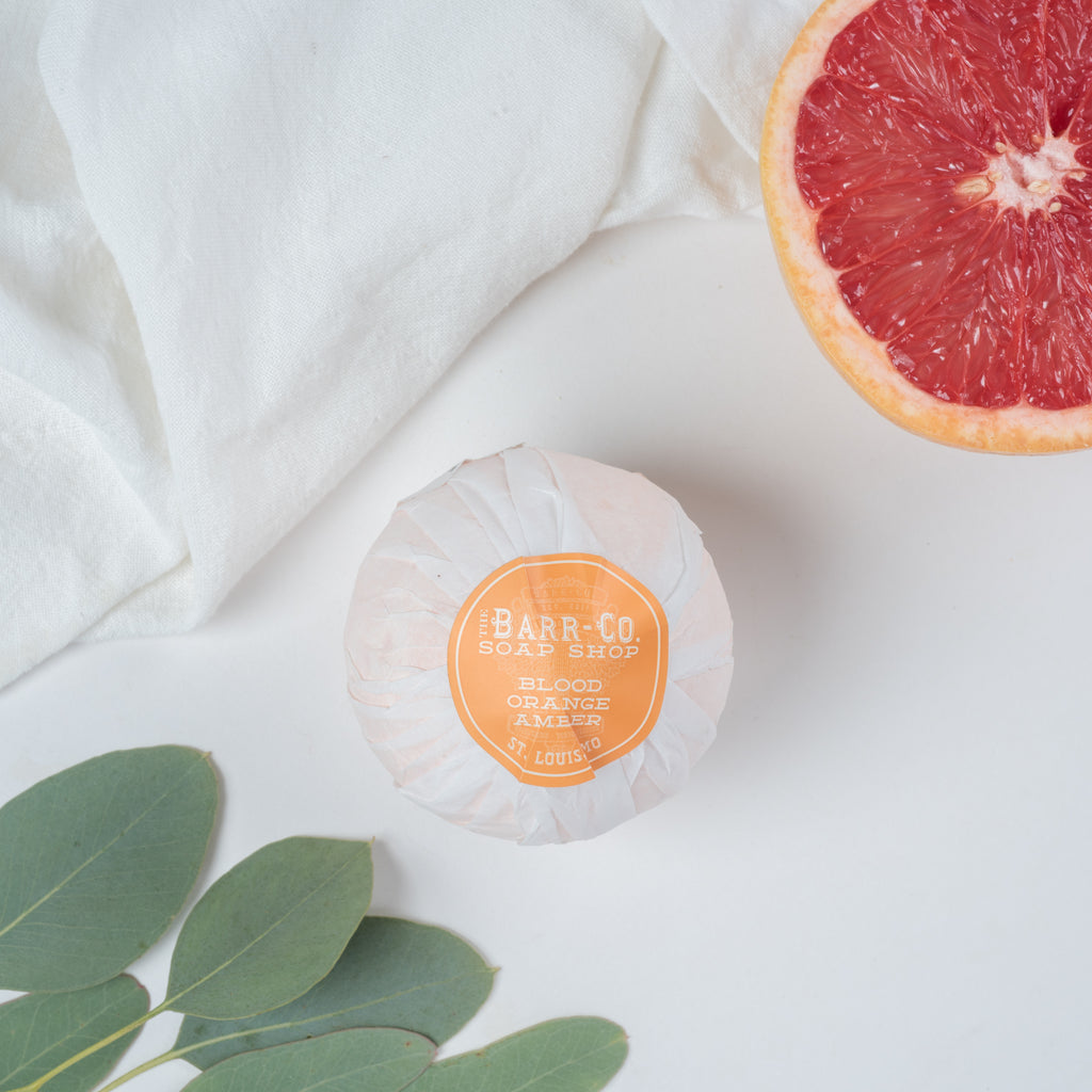 blood orange amber bath salt ball