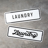 Laundry Enamel Sign