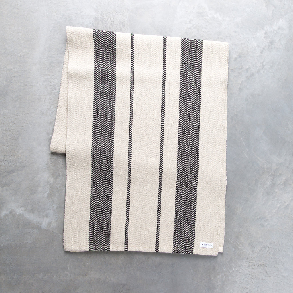 Ticking Stripe Table Runner Magnolia Chip Amp Joanna Gaines