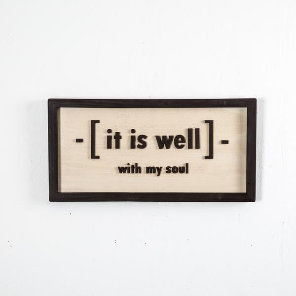 """It is Well"" Shiplap Sign"