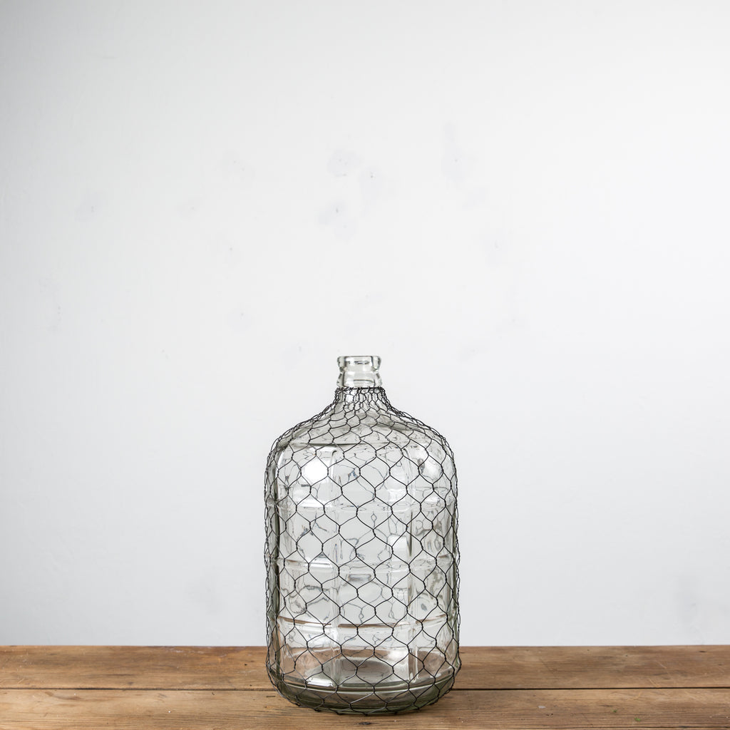 Dorable Chicken Wire Glass Bottles Composition - Electrical and ...