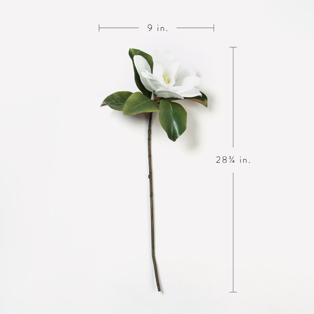 large faux magnolia flower stem