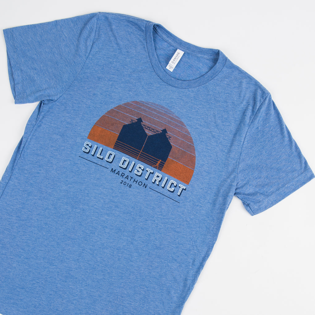 inaugural silo district marathon t-shirt
