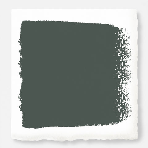 A slightly jeweled forest green hue exterior paint