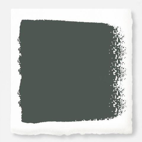 A slightly jeweled forest green hue interior paint