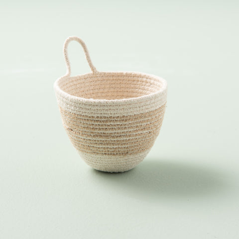 Jute Stripe Cotton Planter Holder