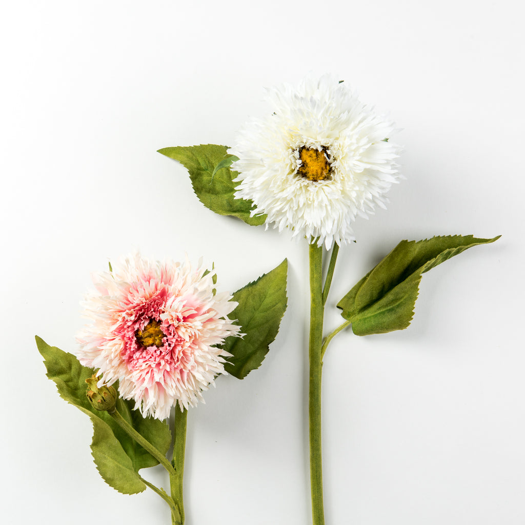 artificial white and pink aster stem