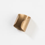 wide brass cuff ring
