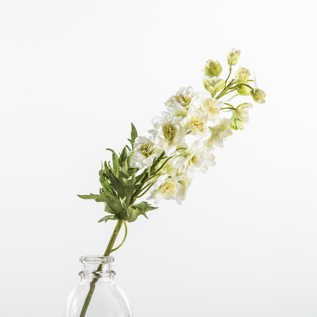 faux white delphinium stem