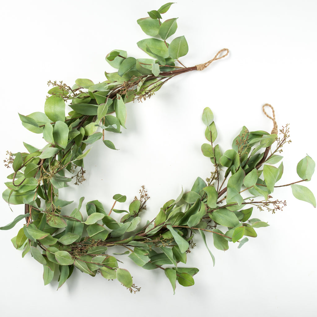 artificial seeded eucalyptus garland