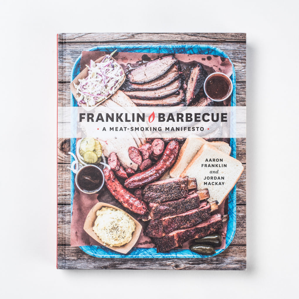"Cookbook titled ""Franklin Barbecue"""