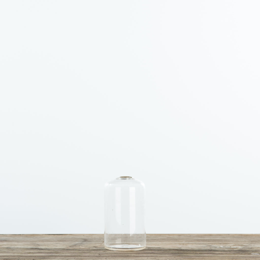 Slender Tapered Clear Glass Vase
