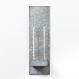 Galvanized & Glass Floral Holder