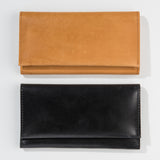 leather fold-over wallet