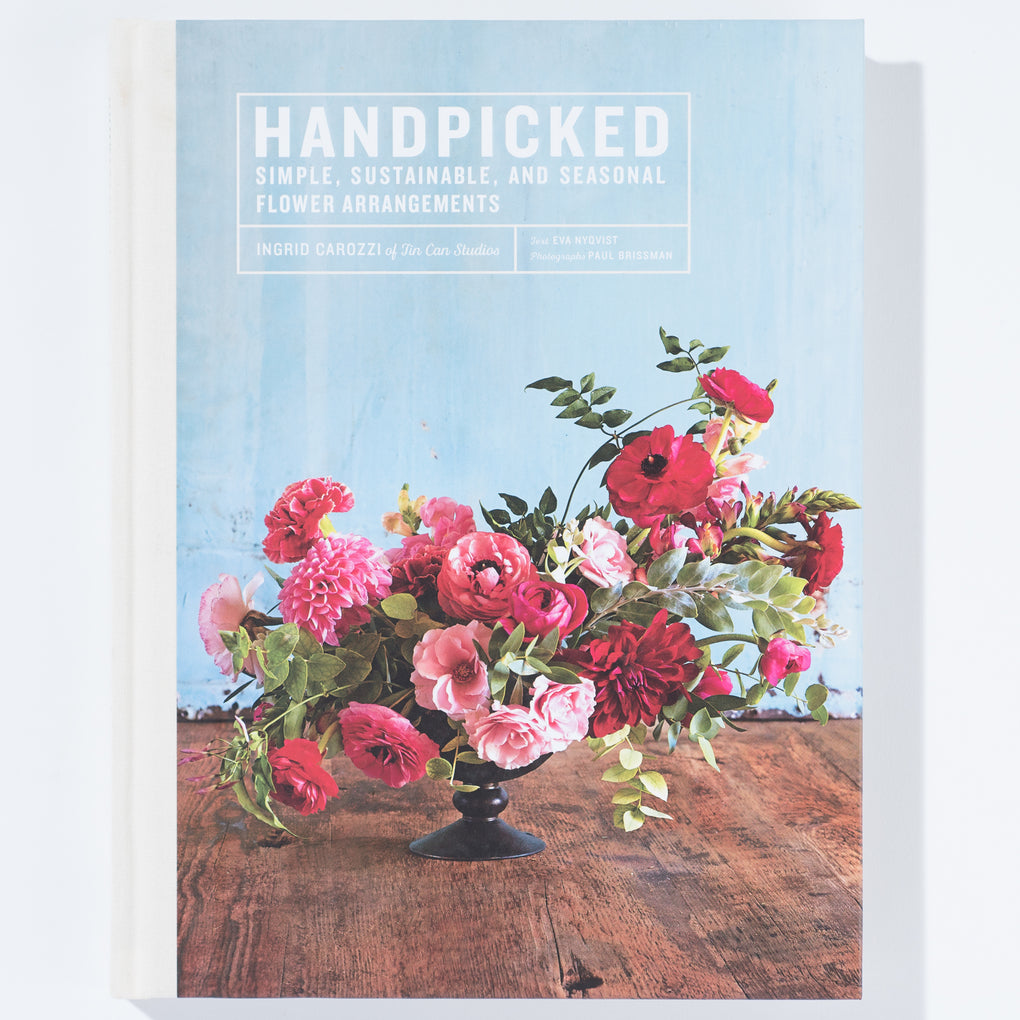 "flower arrangement book titled ""handpicked"""