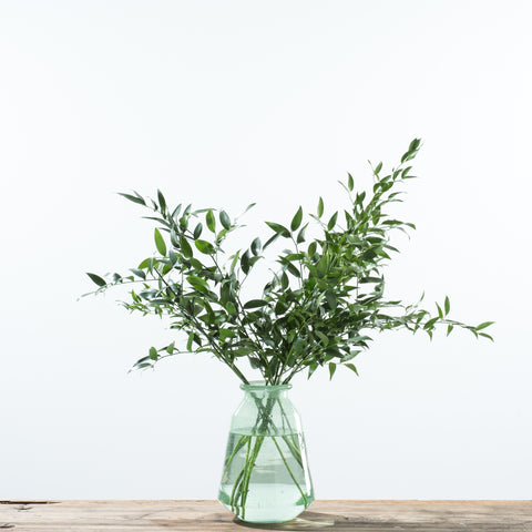 light green glass vase