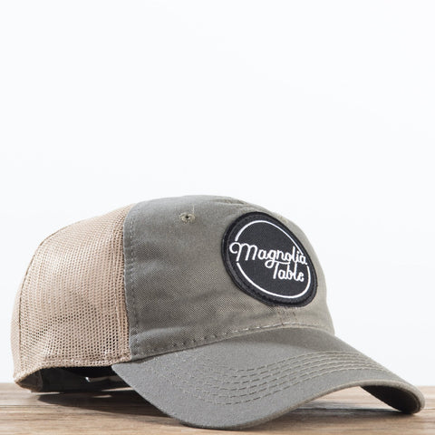 magnolia table logo patch trucker hat
