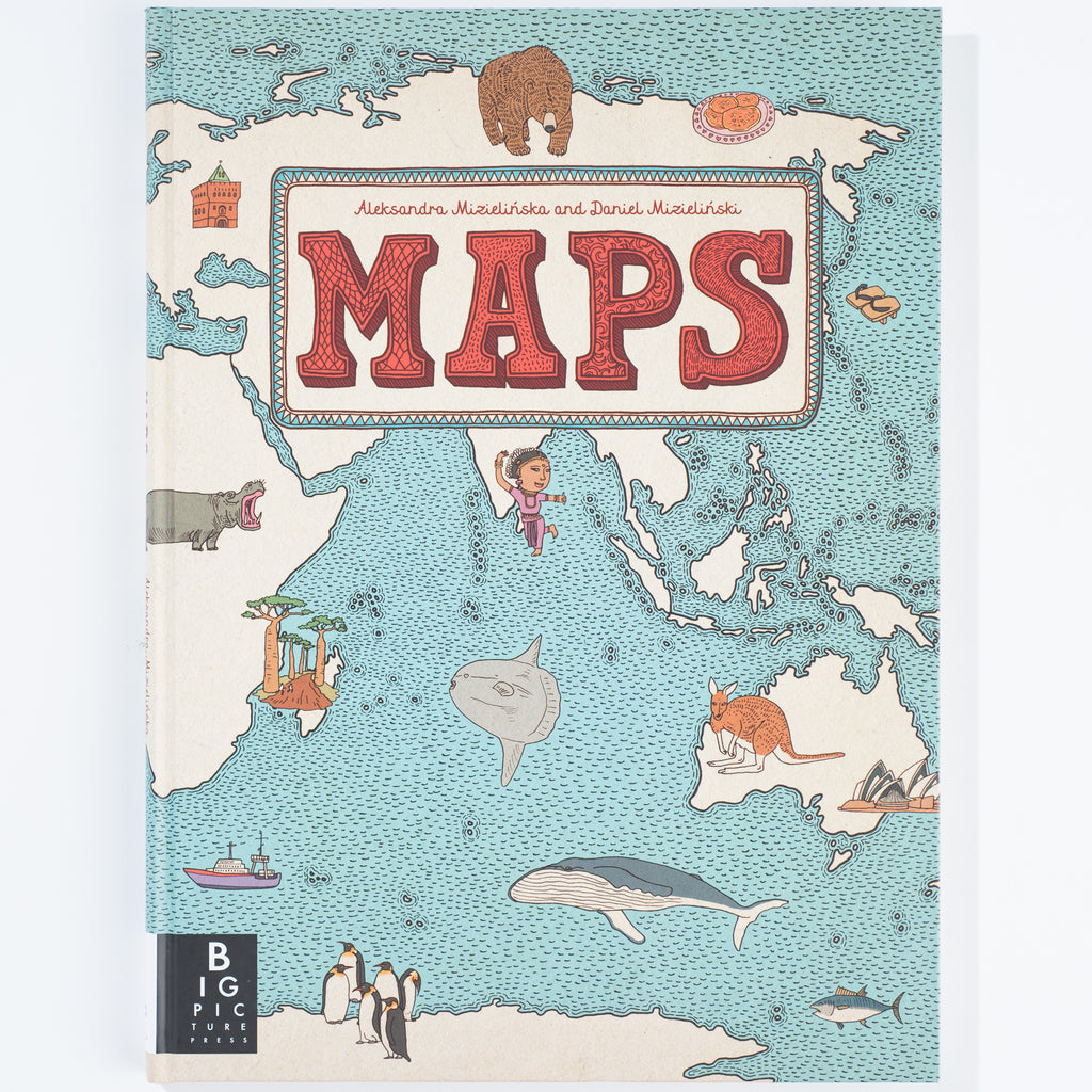 """Maps"" children's educational book"