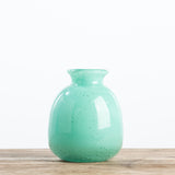 mint colored glass bud vase
