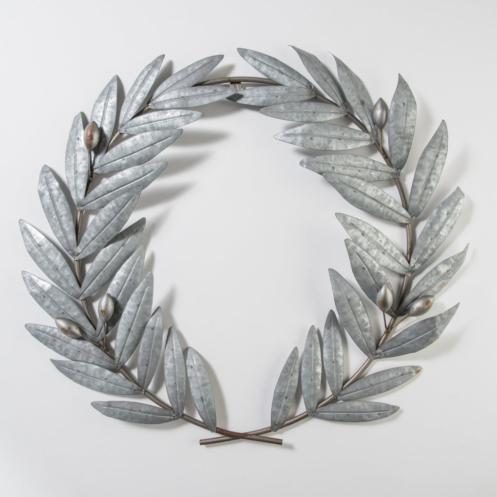 metal olive stem wreath