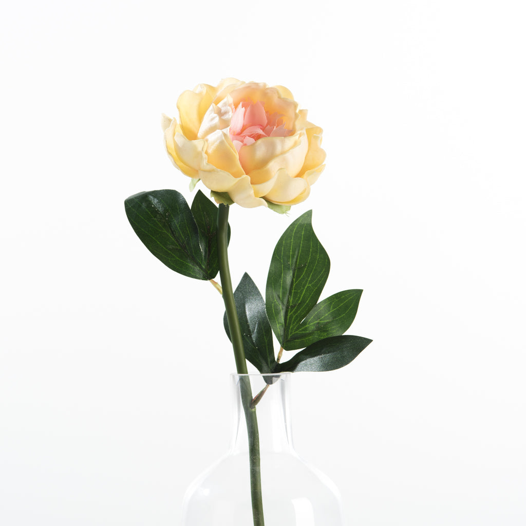 fake peach peony flower stem