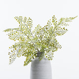 Faux Fern Plant in White Vase