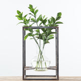 Metal Framed Vase
