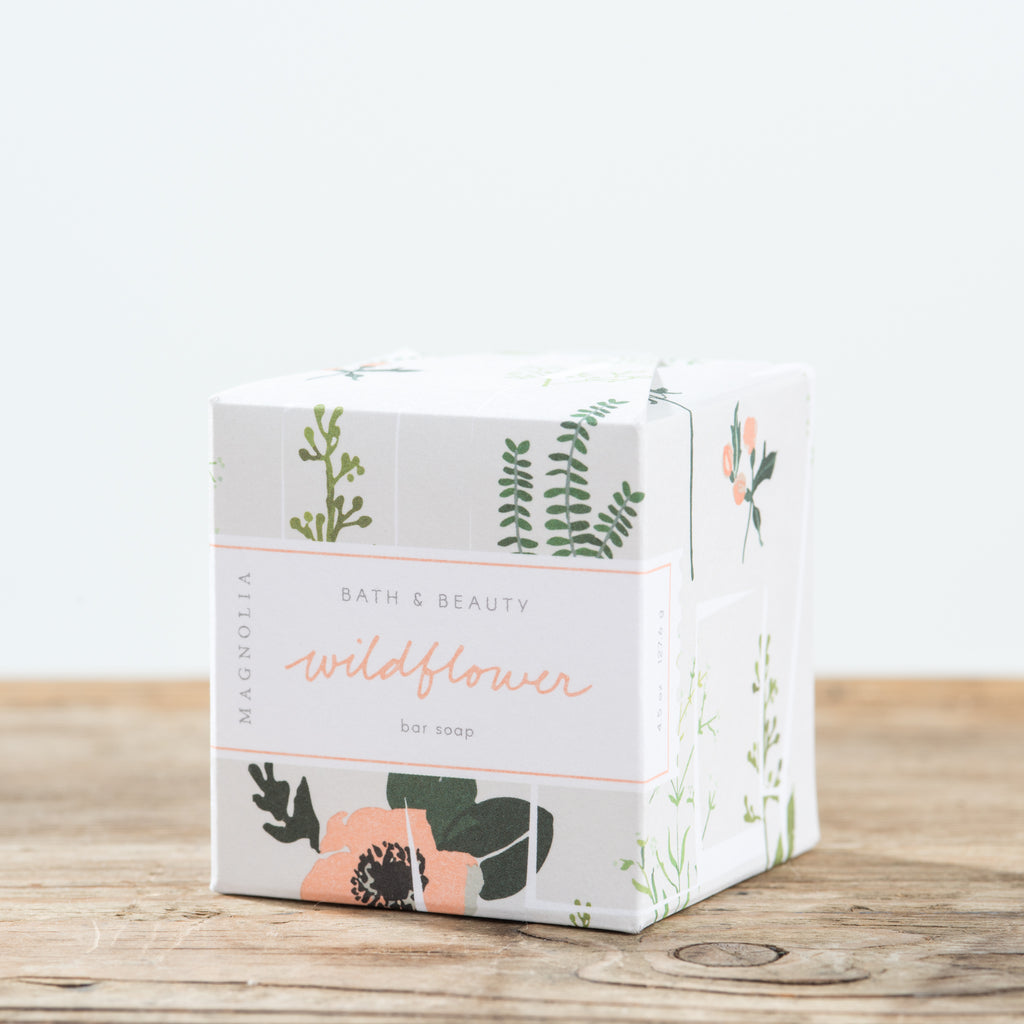 wildflower scent soap bar