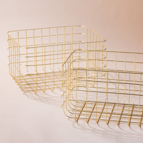 brass metal wire basket
