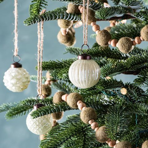 set of 12 pale green mercury glass christmas ornaments