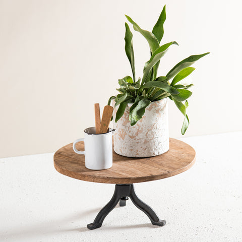 metal and wood adjustable stand