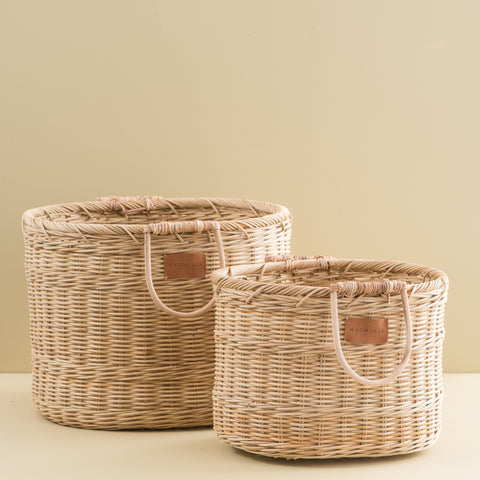 Rattan Oval Hamper
