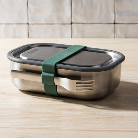 stainless steel lunch box with fork set