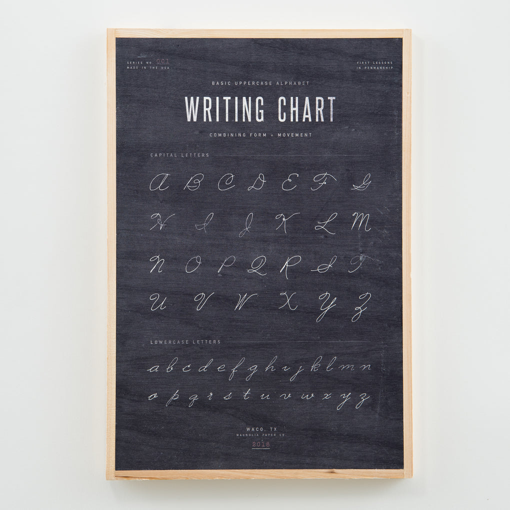 BLACK HANGING WOODEN WRITING CHART SIGN