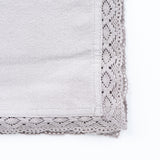 GREY CROCHET EDGED NAPKIN