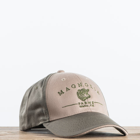 Tan and Brown Magnolia Farms logo Hat