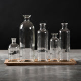 Assorted Glass Jars with Tray