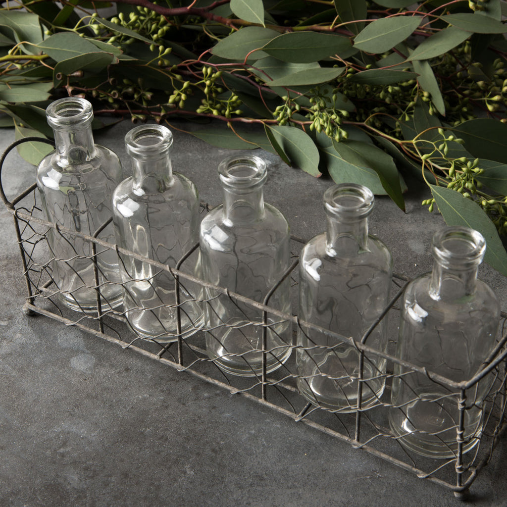 Chicken Wire Vase Holder