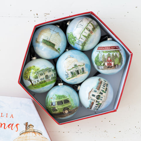 magnolia Decoupage Ornament Boxed Set